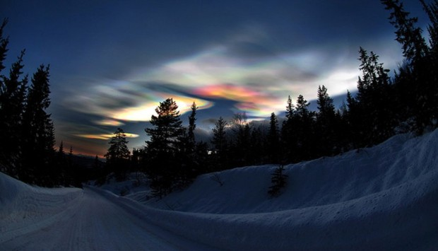 Polar stratospheric cloud artic